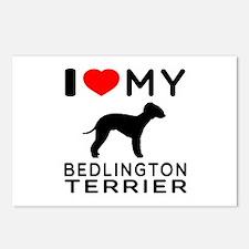 I Love My Bedlington Terrier Postcards (Package of