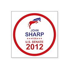"2012_john_sharp_main Square Sticker 3"" x 3"""