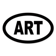Art Car Oval Bumper Stickers