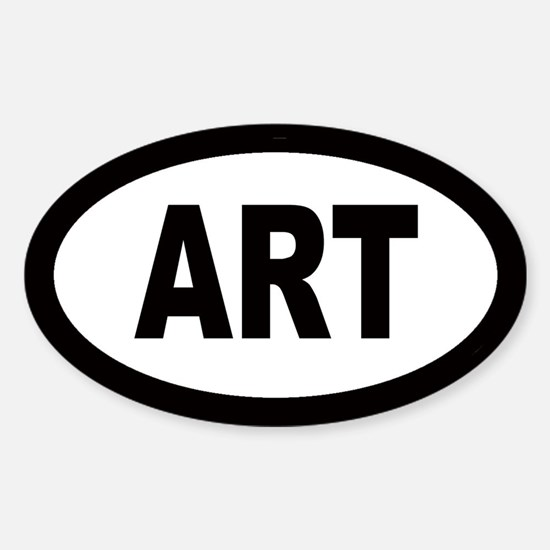 Art Car Oval Decal