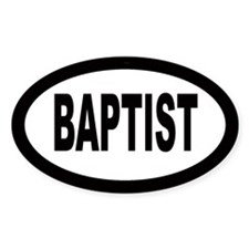 Baptist Car Oval Decal