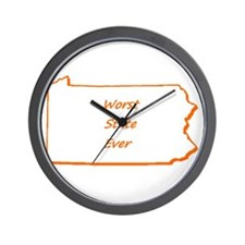 Pennsylvania Worst State Ever Wall Clock