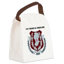 DUI-1ST MEDICAL BDE WITH TEXT Canvas Lunch Bag