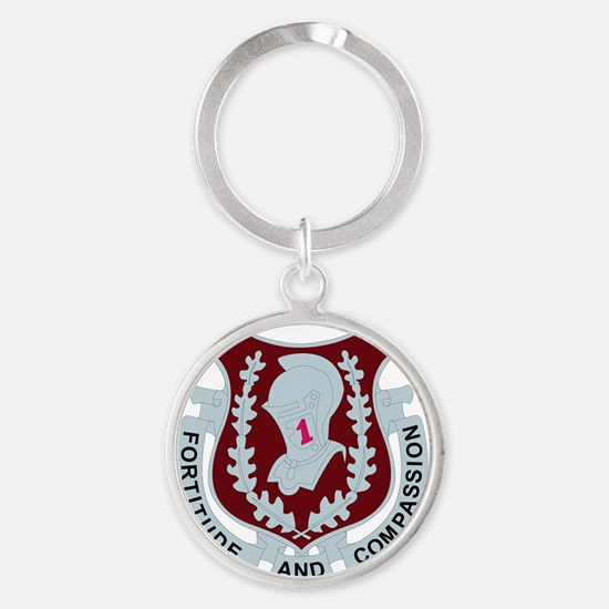 DUI-1ST MEDICAL BDE WITH TEXT Round Keychain