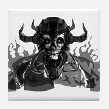 Grim Reaper Skull Head Tile Coaster