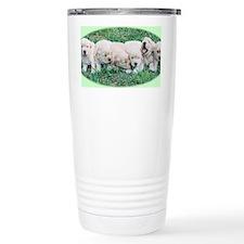 Golden Retriever Puppy Aluminum Ceramic Travel Mug