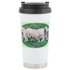 Golden Retriever Puppy Aluminum Travel Mug