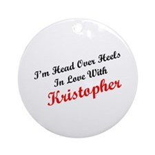 In Love with Kristopher Ornament (Round)