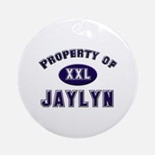 Property of jaylyn Ornament (Round)
