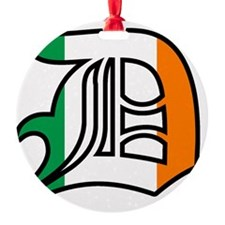 ireland black outline Ornament