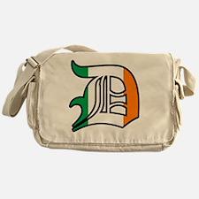 ireland black outline Messenger Bag