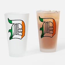 ireland black outline Drinking Glass