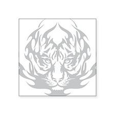 """Fire Tiger Square Sticker 3"""" x 3"""""""