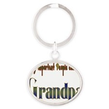 very important people call me GRANDP Oval Keychain