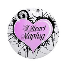 iheartvaping2000x2000 Round Ornament