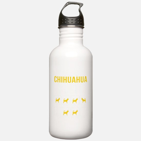 Chihuahua Stubborn Tri Water Bottle