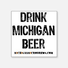 """DRINKMIBEER2 Square Sticker 3"""" x 3"""""""