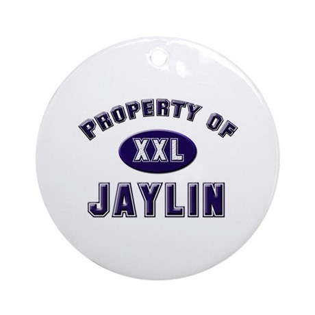 Property of jaylin Ornament (Round)
