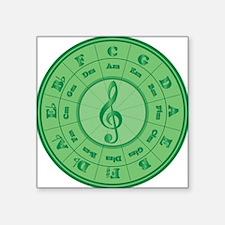 """Cof5Ca2Green Square Sticker 3"""" x 3"""""""