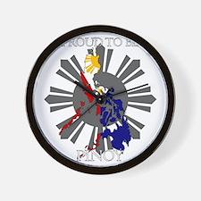 proud-pinoy-dark-sun Wall Clock
