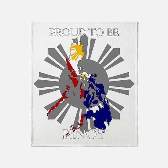 proud-pinoy-dark-sun Throw Blanket