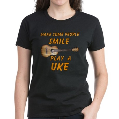 Play a Uke Women's Dark T-Shirt