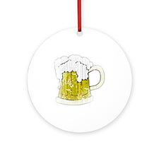 Vintage Beer Mug Round Ornament