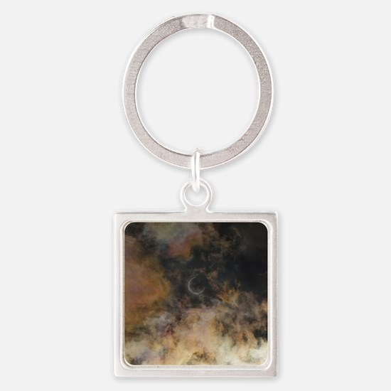 Solar Eclipse and Clouds Keychains