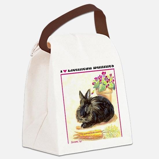 burgess_iheartlionhead10x Canvas Lunch Bag