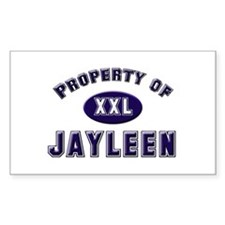 Property of jayleen Rectangle Decal