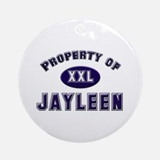 Property of jayleen Ornament (Round)