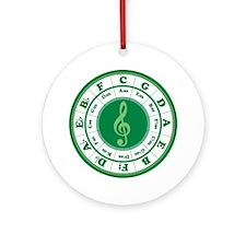 Cof5Ca2Green3a1 Round Ornament