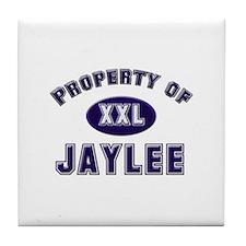 Property of jaylee Tile Coaster