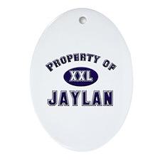 Property of jaylan Oval Ornament