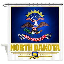 North Dakota (Flag 10) Shower Curtain