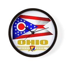 Ohio (Flag 10) Wall Clock