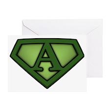 Super green a Greeting Card