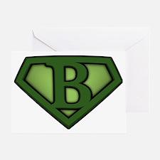 Super green b Greeting Card
