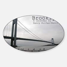 brooklyn cover Sticker (Oval)