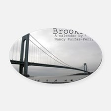 brooklyn cover Oval Car Magnet