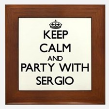 Keep Calm and Party with Sergio Framed Tile