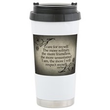i-care-for-myself_12x18 Thermos Mug