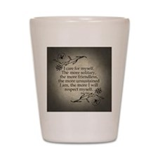 i-care-for-myself_b Shot Glass