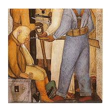 Diego Rivera Art Tile Set - Capitalist Death P2of2