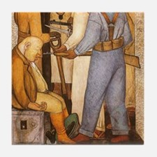 Diego Rivera Art Tile Set - Capitalist Death P2of2