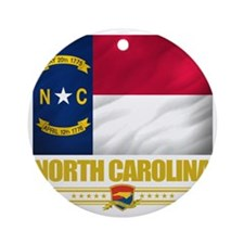 North Carolina (Flag 10) Round Ornament