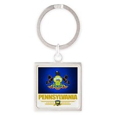Pennsylvania (Flag 10) Square Keychain