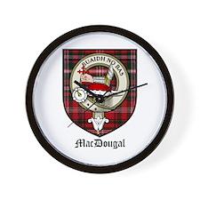 MacDougal Clan Crest Tartan Wall Clock