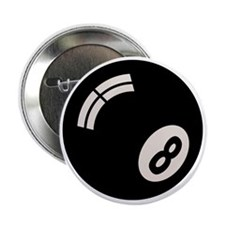 """8-ball-toony-LTT 2.25"""" Button"""