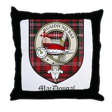 MacDougal Clan Crest Tartan Throw Pillow